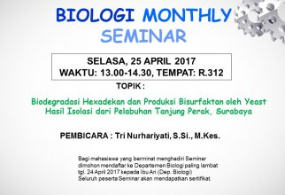Biology Monthly Seminar April 2017