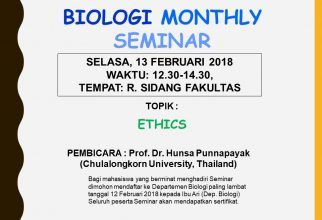 "Biology Monthly Seminar: ""Ethics"""